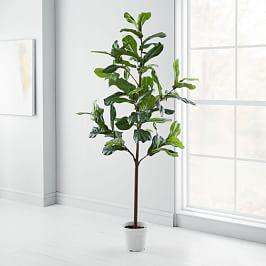 Faux Fiddle Leaf Fig Tree   213 Cm by West Elm