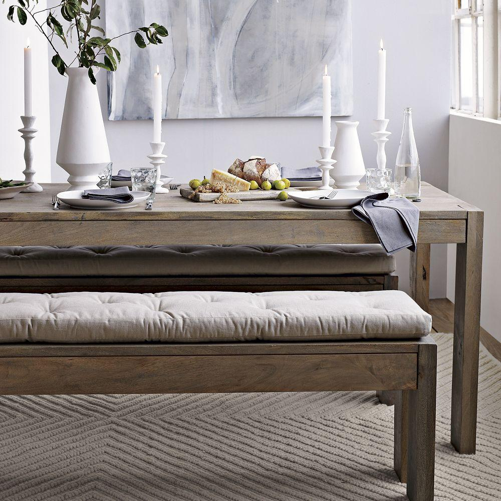 Dining Benches: Tufted Dining Bench Cushion