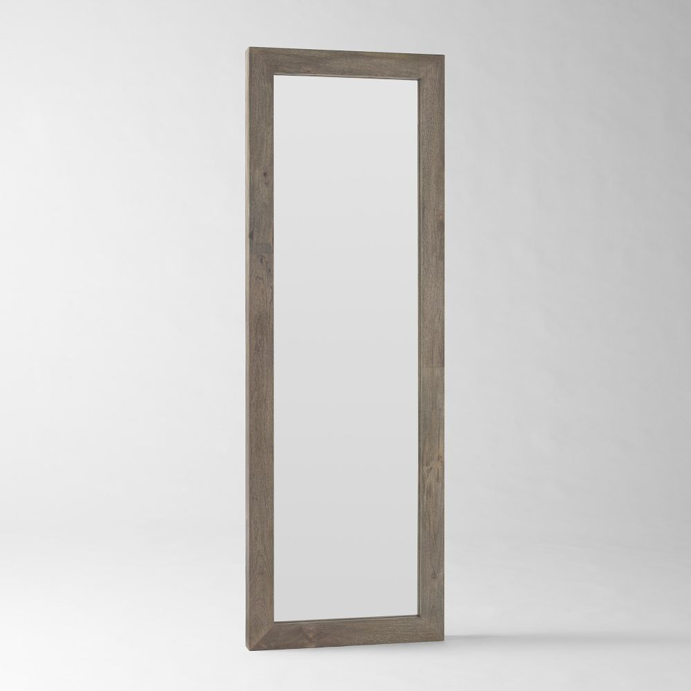 Parsons Floor Mirror Natural Solid Wood West Elm Au