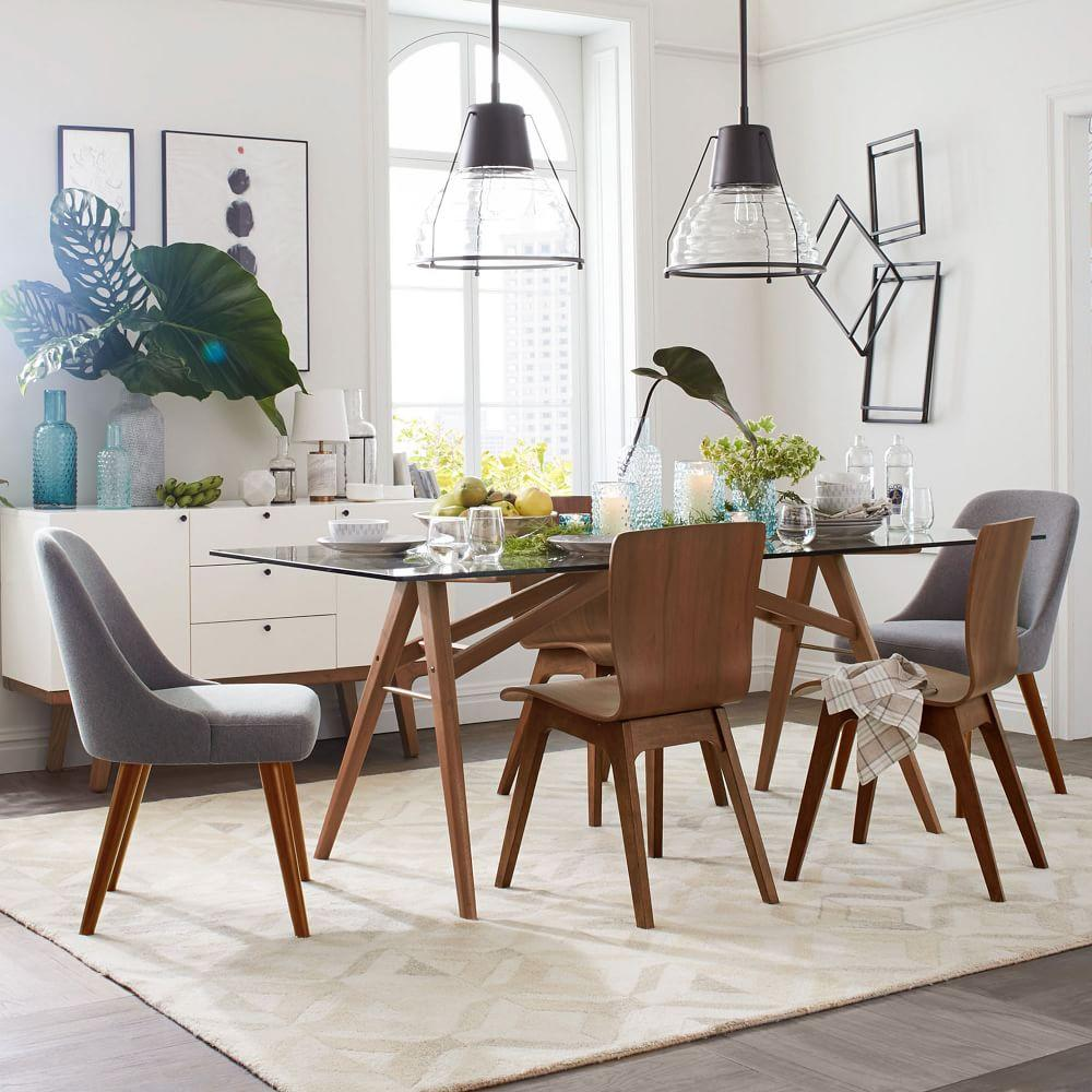 Mid-Century Dining Chairs - Walnut Legs | west elm Australia
