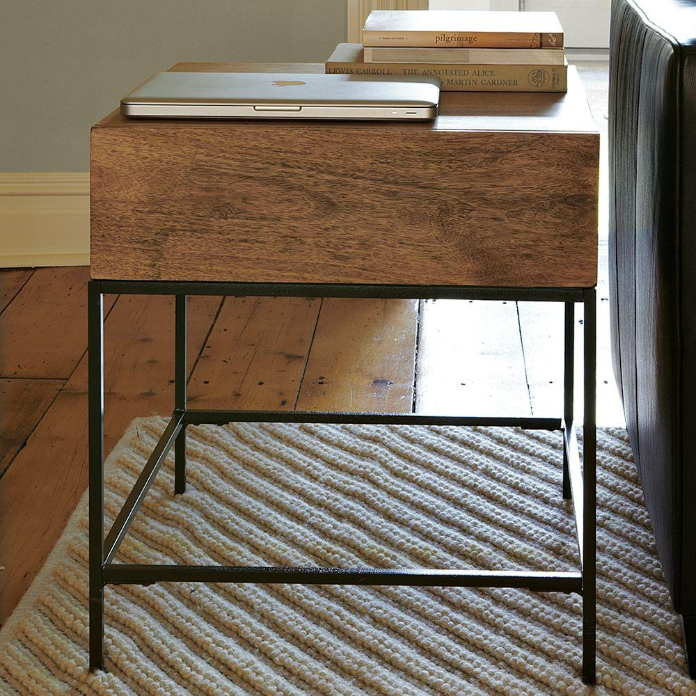 Industrial storage side table west elm au for West elm industrial storage coffee table