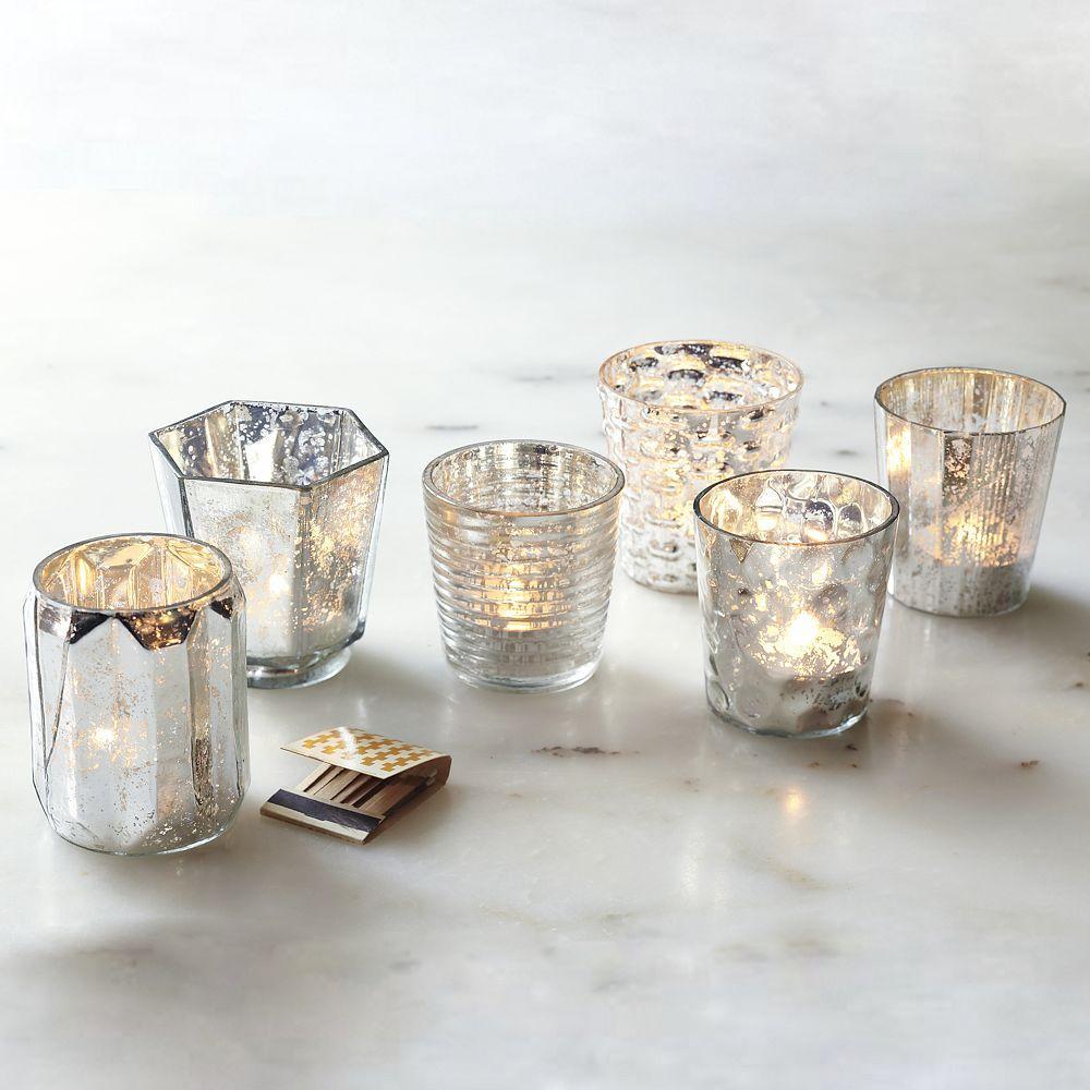Mercury tealights west elm australia for Homemade votive candles