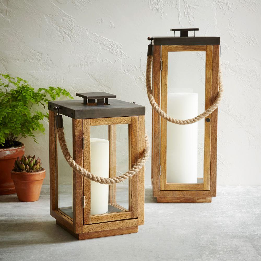Wood Rope Lanterns West Elm Australia
