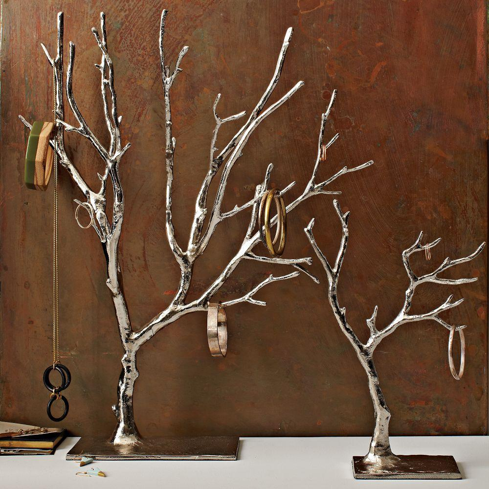Cast metal jewelry tree extra large for Tree branch jewelry holder