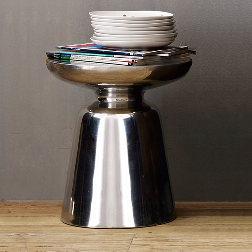 martini side table metallics west elm au. Black Bedroom Furniture Sets. Home Design Ideas