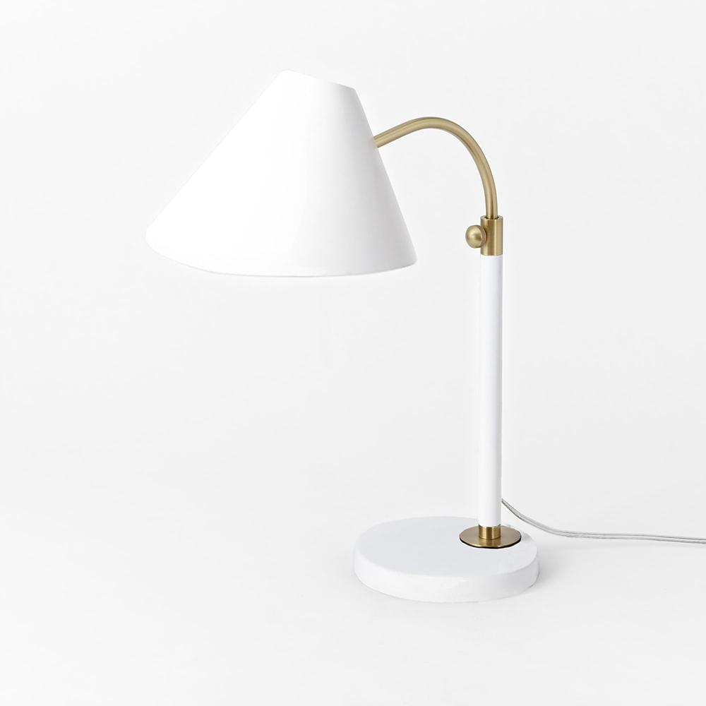 Mid century task table lamp white west elm au mid century task table lamp white mozeypictures Image collections