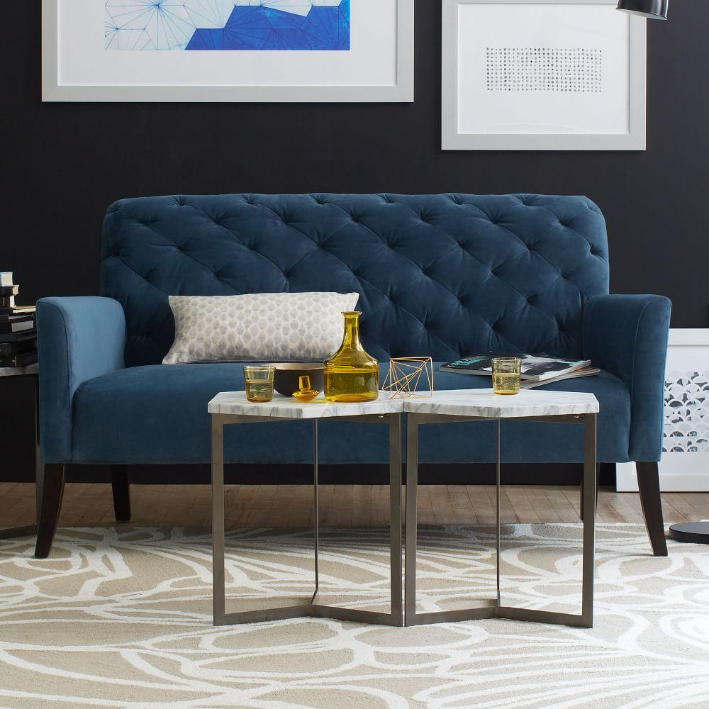 Hex side table west elm au hex side table geotapseo Choice Image