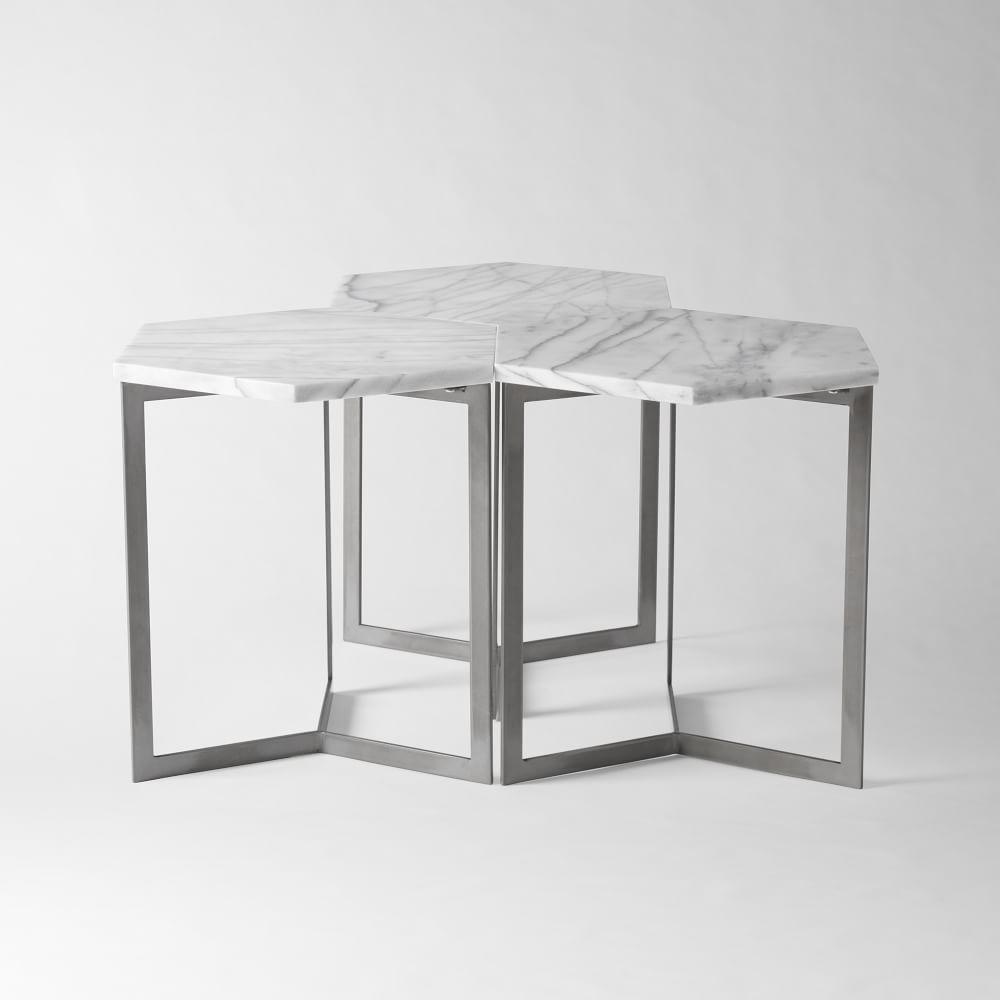 Hex Side Table - Steel