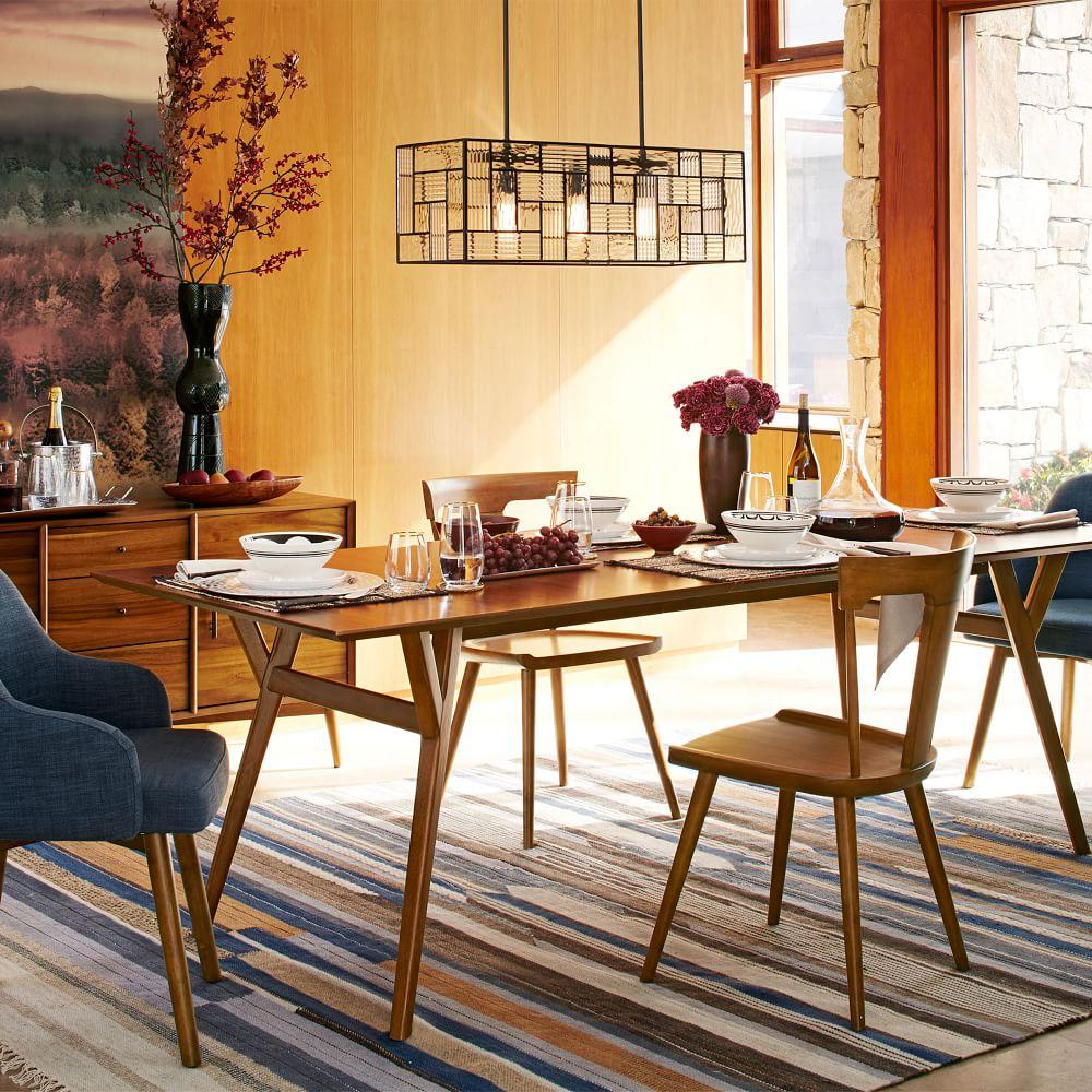 Mid Century Furniture Dining Room: Mid-Century Expandable Dining Table - Walnut