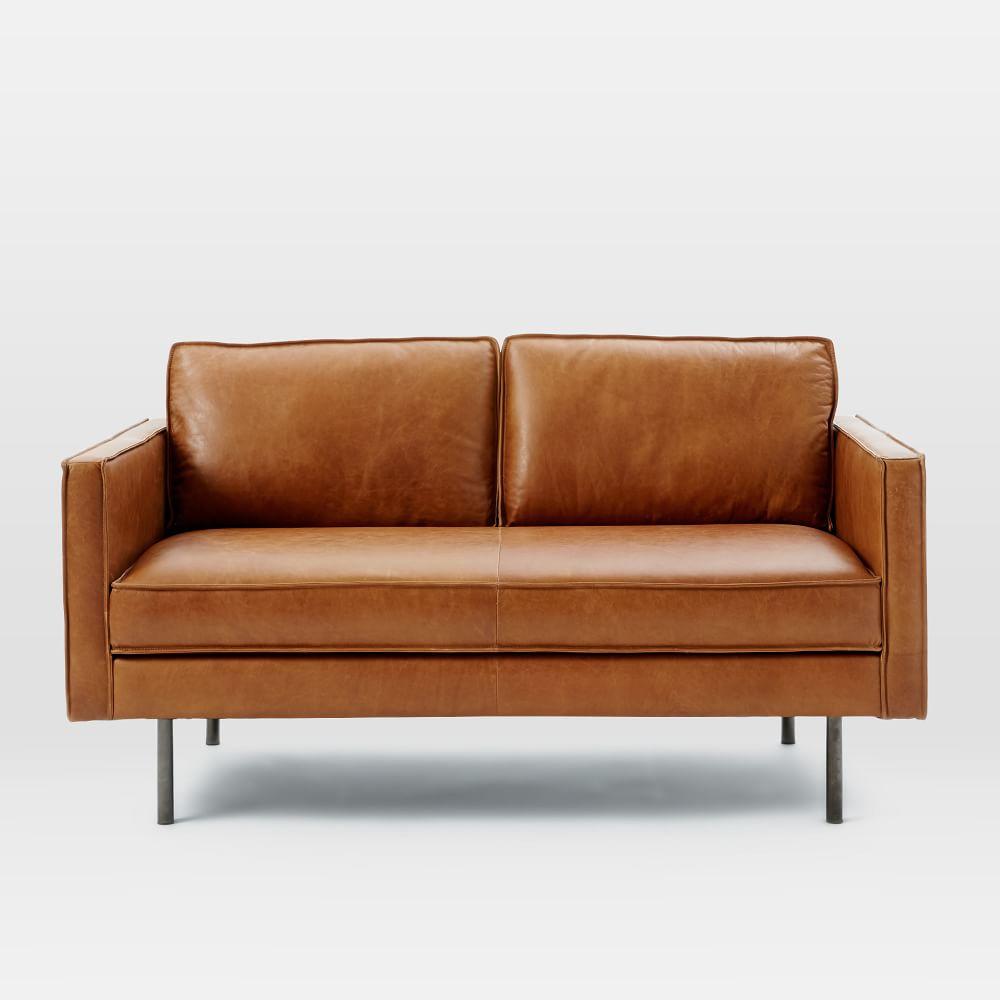 Axel Leather Loveseat 154 Cm West Elm Au
