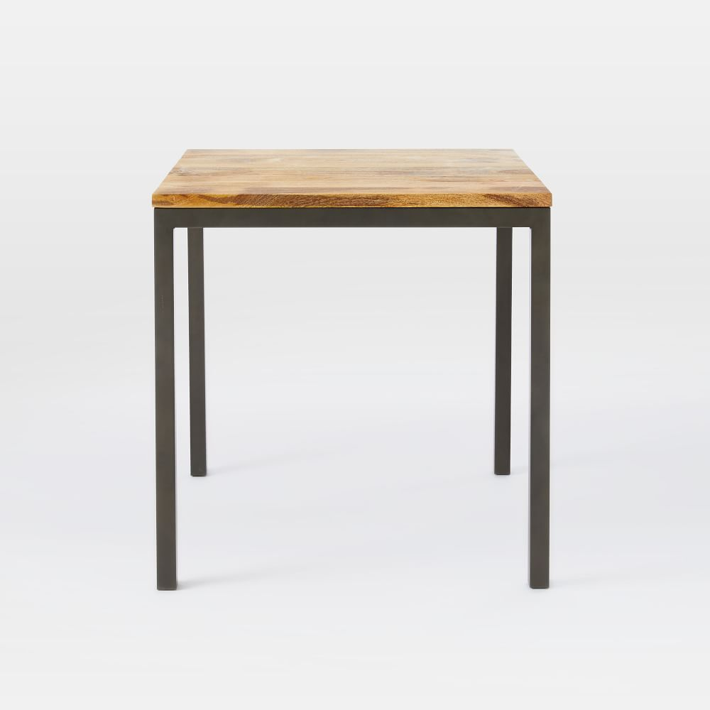 Box frame square dining table wood