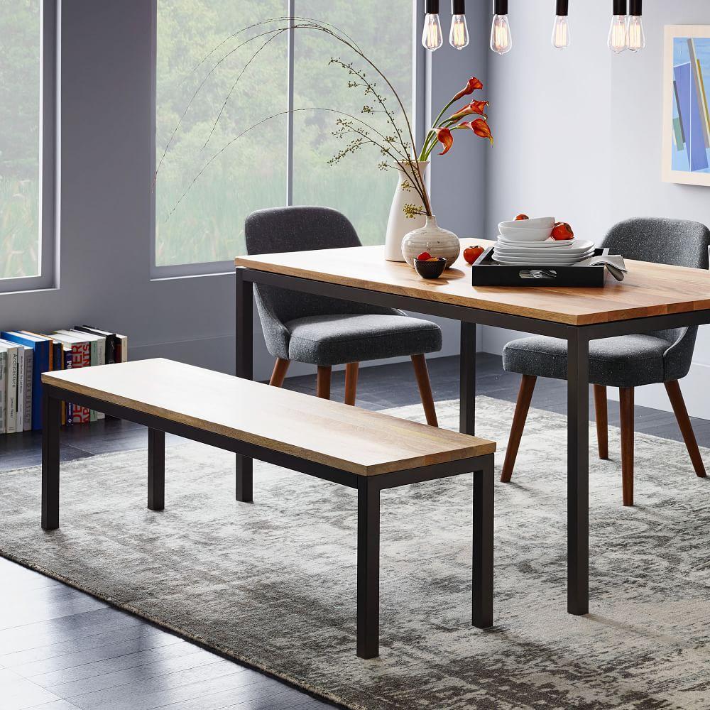 Box frame dining bench west elm au for Dining table frame design