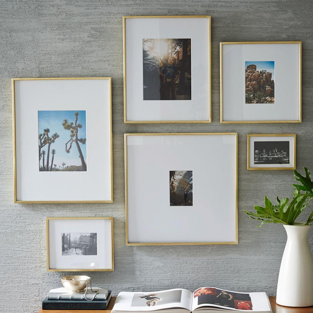 Gallery frames polished brass