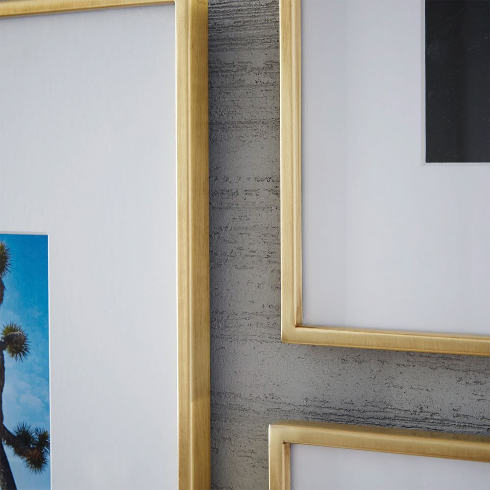 Gallery Frames - Polished Brass | west elm Australia