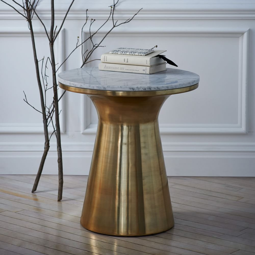 Marble Topped Pedestal Side Table West Elm Australia