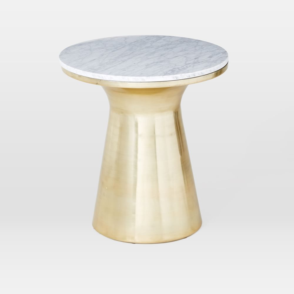 Marble Topped Pedestal Side Table West Elm Au