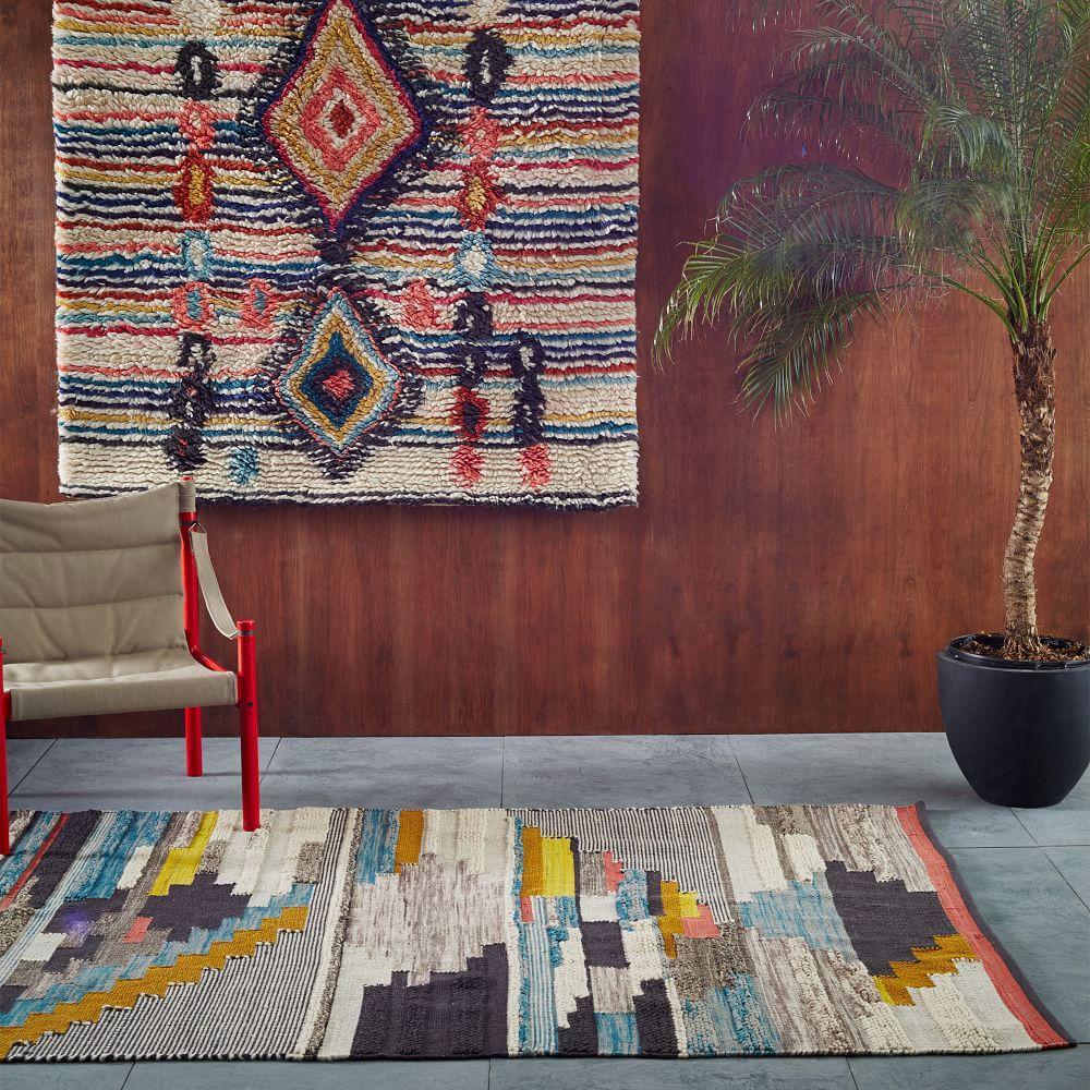 Multi Pixel Woven Rug West Elm Australia