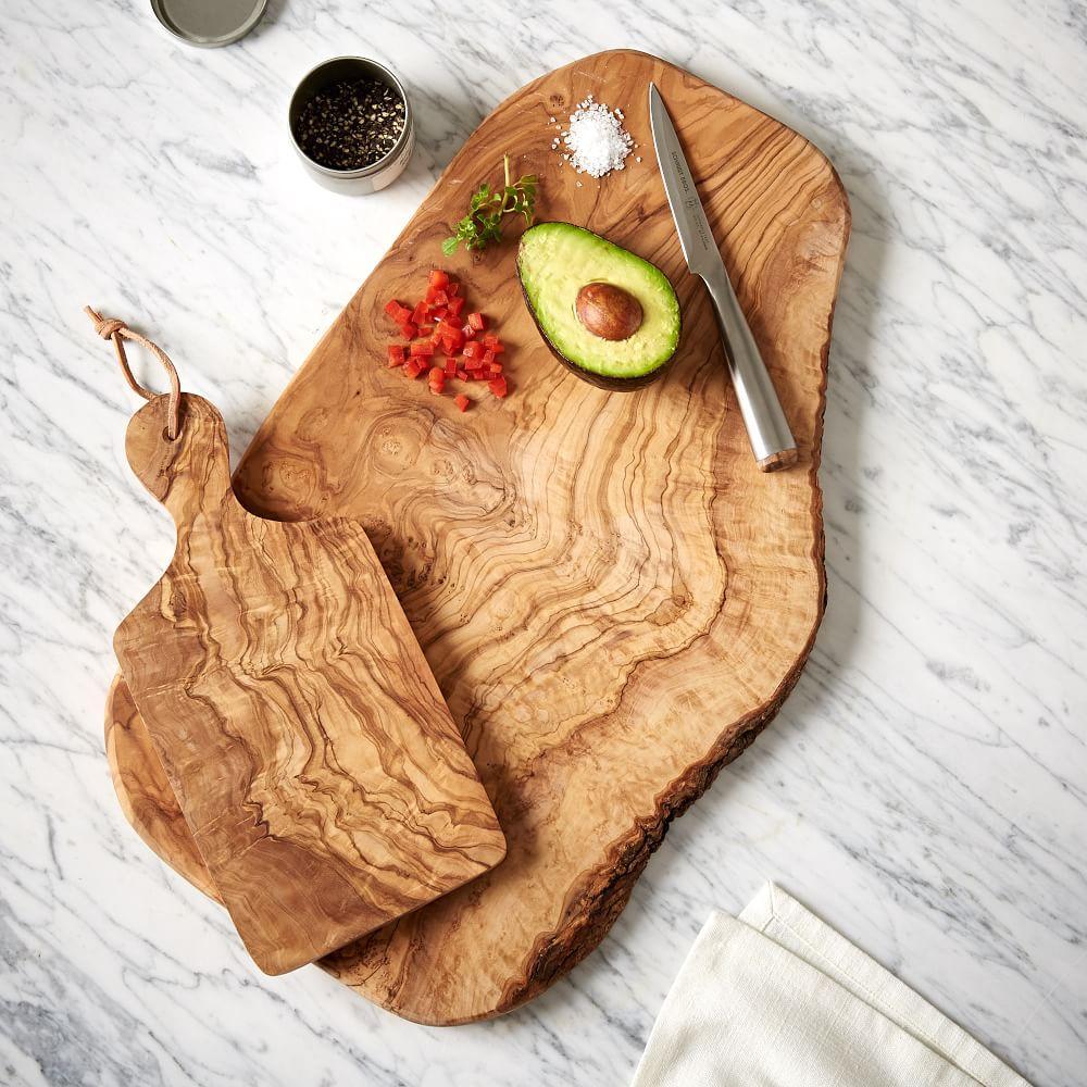 Olive Wood Rustic Chopping Board West Elm Australia
