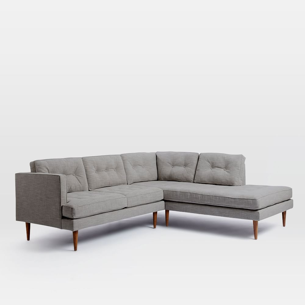 Peggy mid century terminal chaise sectional west elm for West elm peggy sectional sofa
