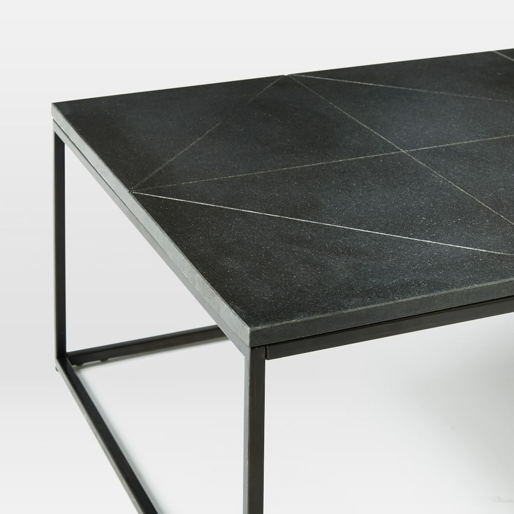 Solid Granite Top Coffee Table: Etched Granite Coffee Table