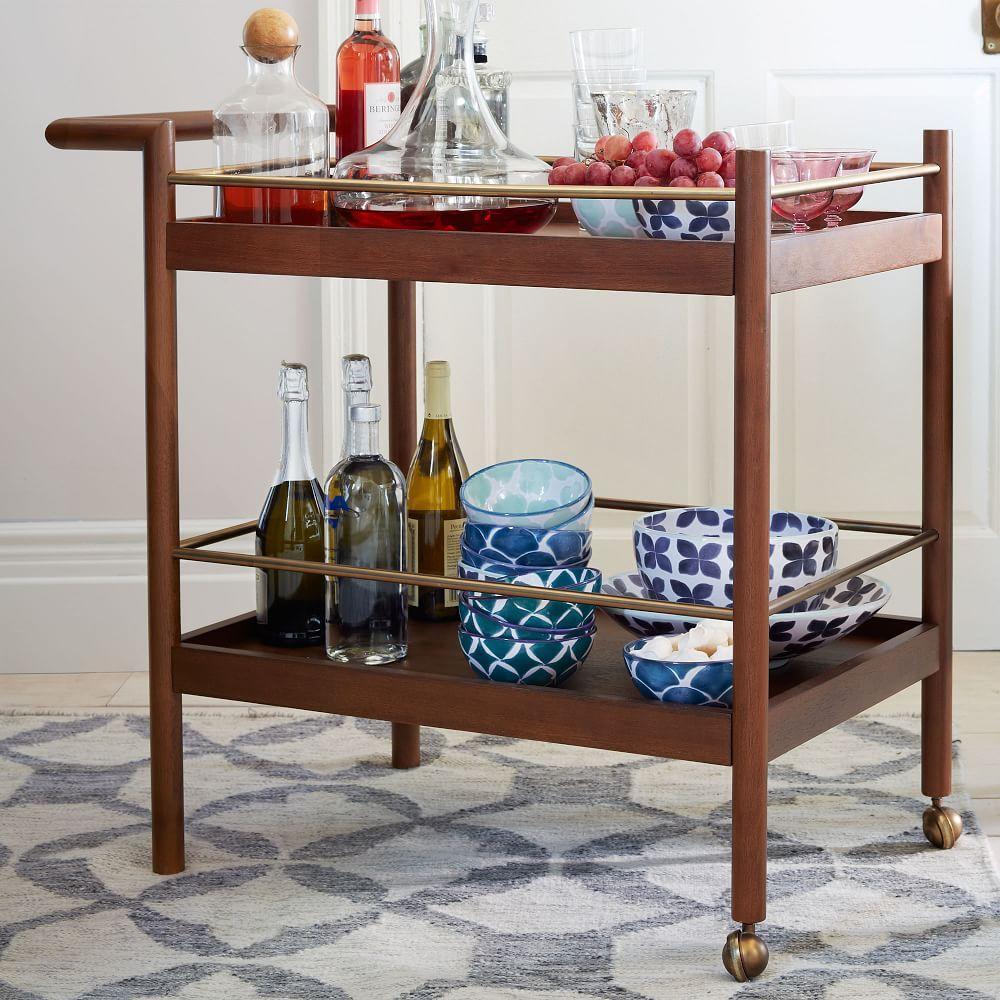 midcentury bar cart  west elm au - midcentury bar cart
