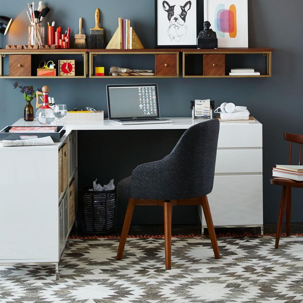Saddle Office Chair Asphalt West Elm Au