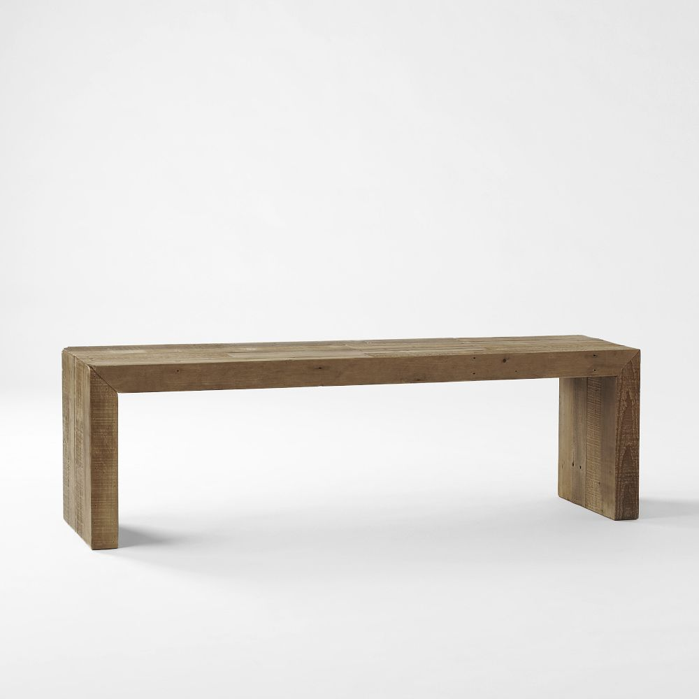 Emmerson Reclaimed Wood Dining Bench West Elm AU