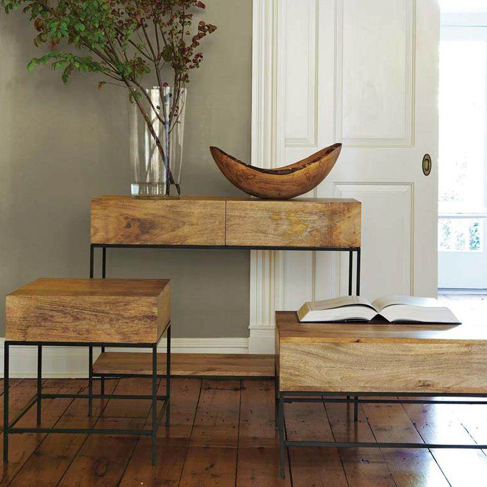 Wood Side Tables With Storage ~ Industrial storage side table west elm au