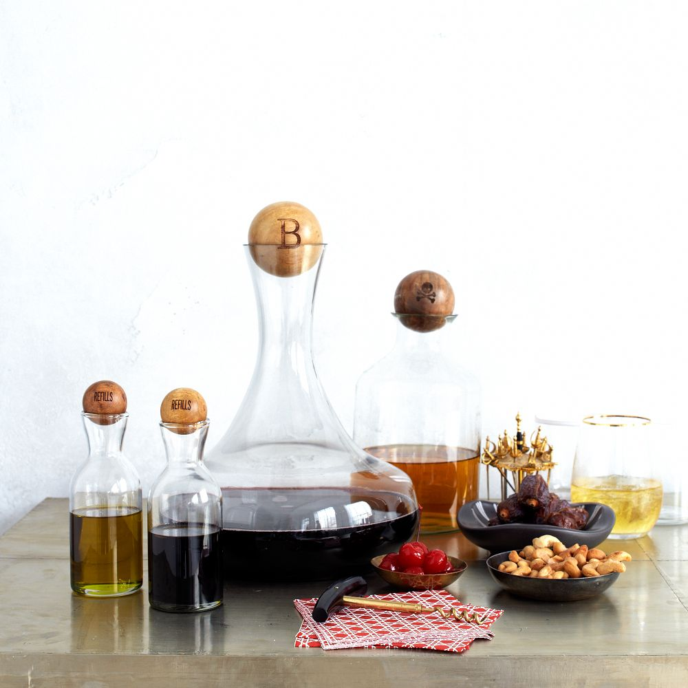 Glass Bottles With Wood Stoppers West Elm Au