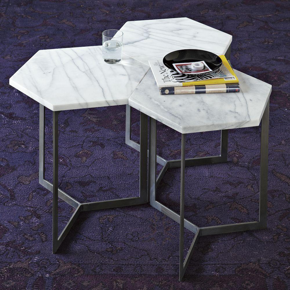 hex side table steel west elm australia. Black Bedroom Furniture Sets. Home Design Ideas