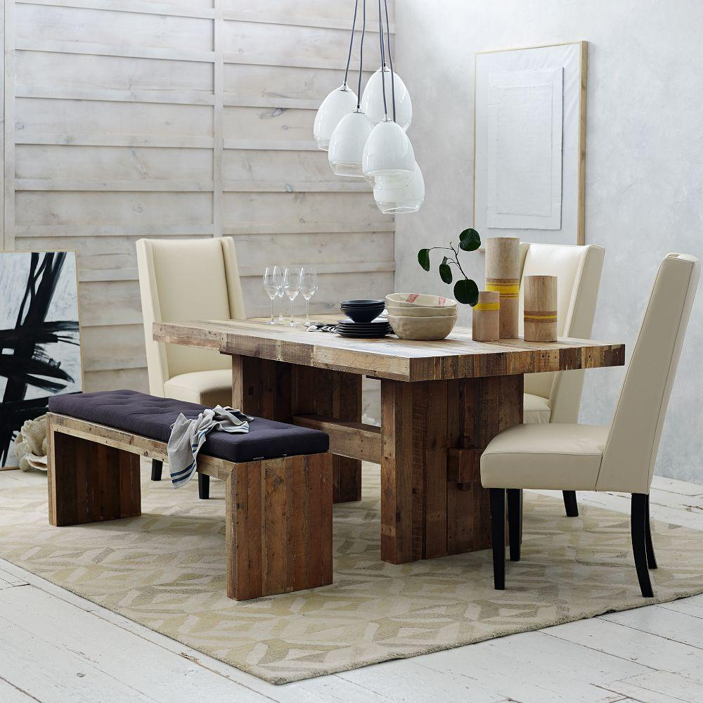 "Wood Bench Dining Table: Emmersonâ""¢ Reclaimed Wood Dining Table"