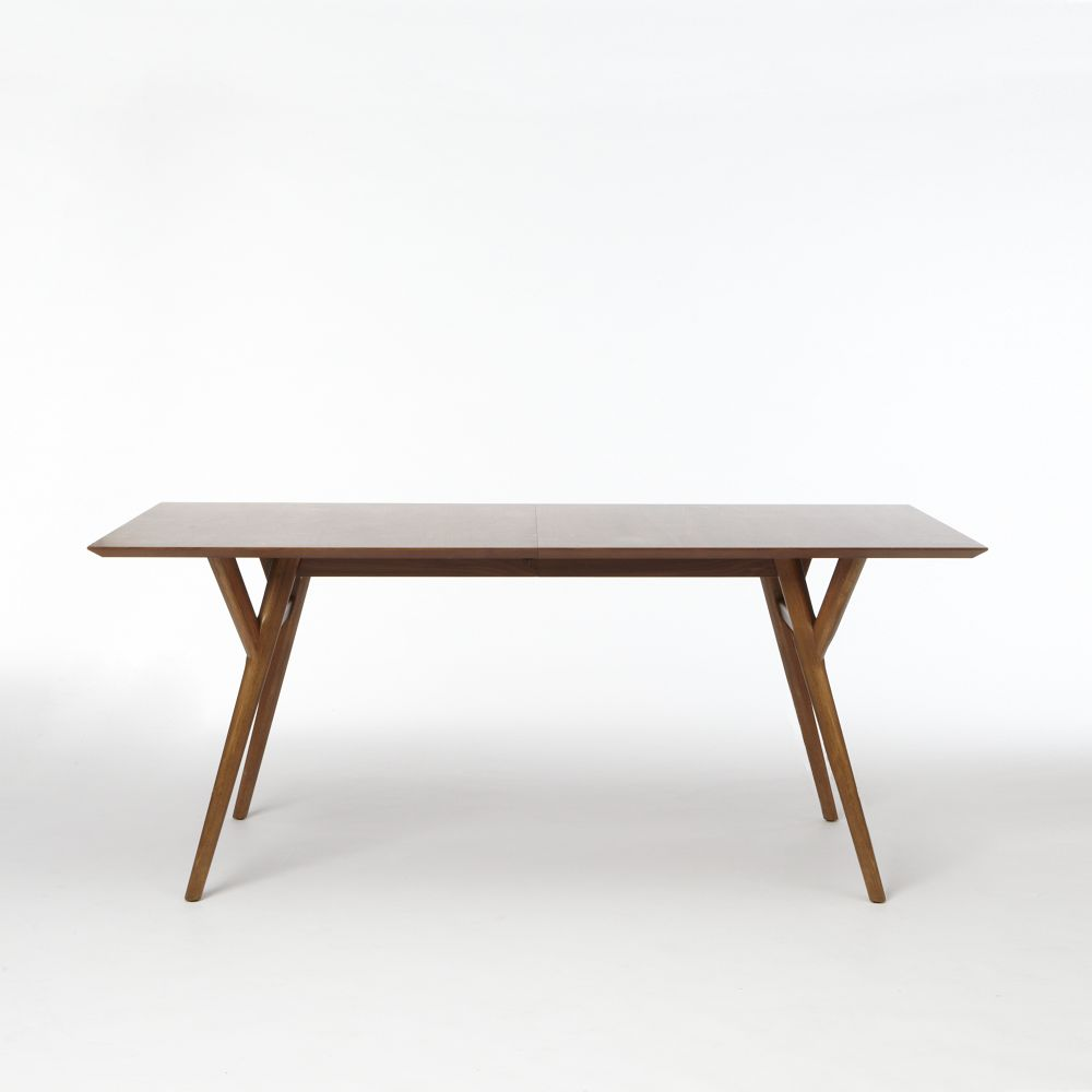 Mid century expandable dining table walnut west elm au for Expandable dining table