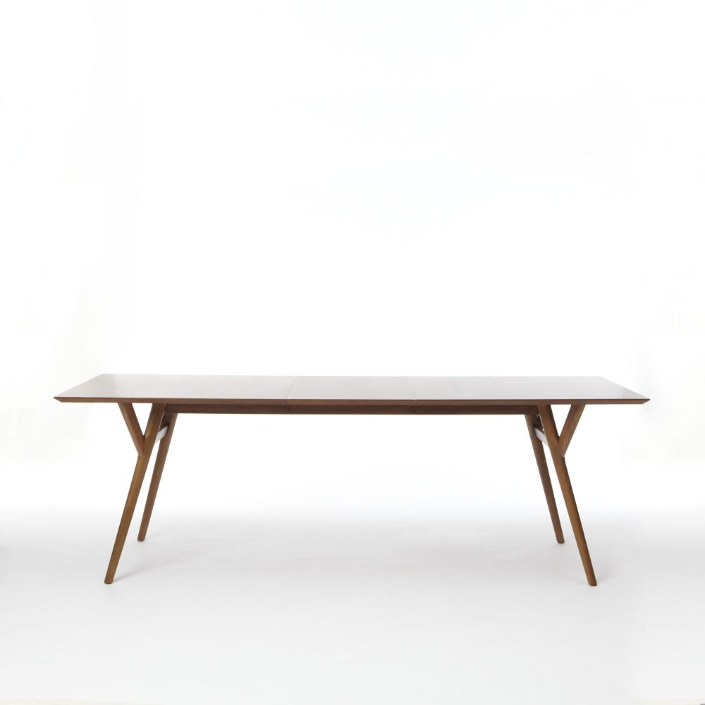 Mid century expandable dining table walnut west elm au for West elm c table
