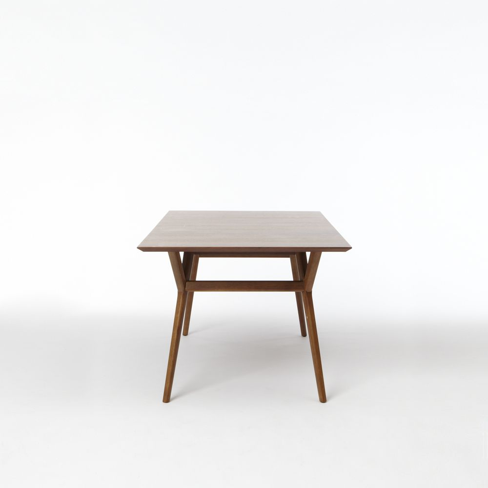 Mid century expandable dining table for Expandable dining table