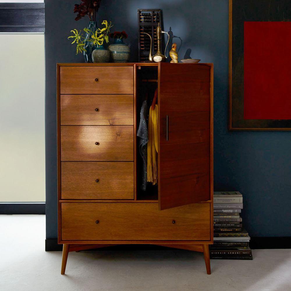Mid century chifforobe acorn west elm australia for Mid century bedroom furniture