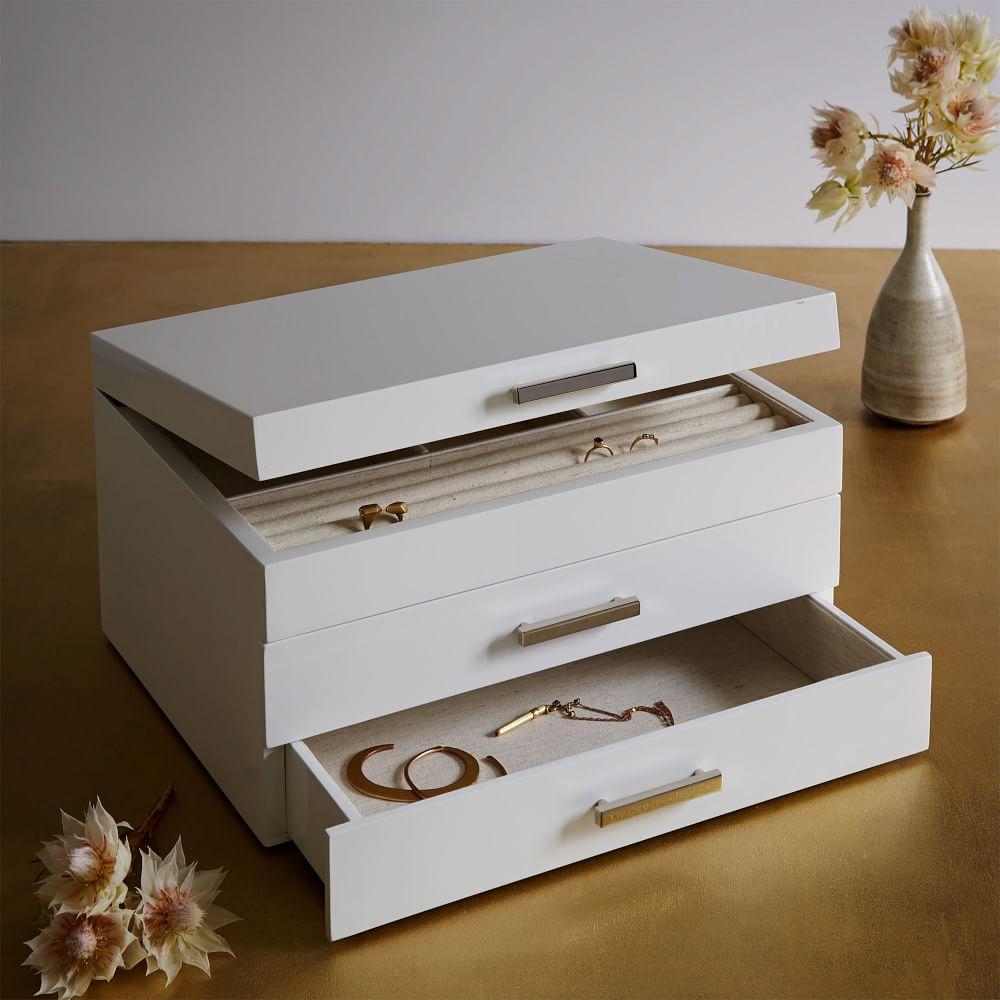 Mid-Century Box - Grand (White Lacquer)