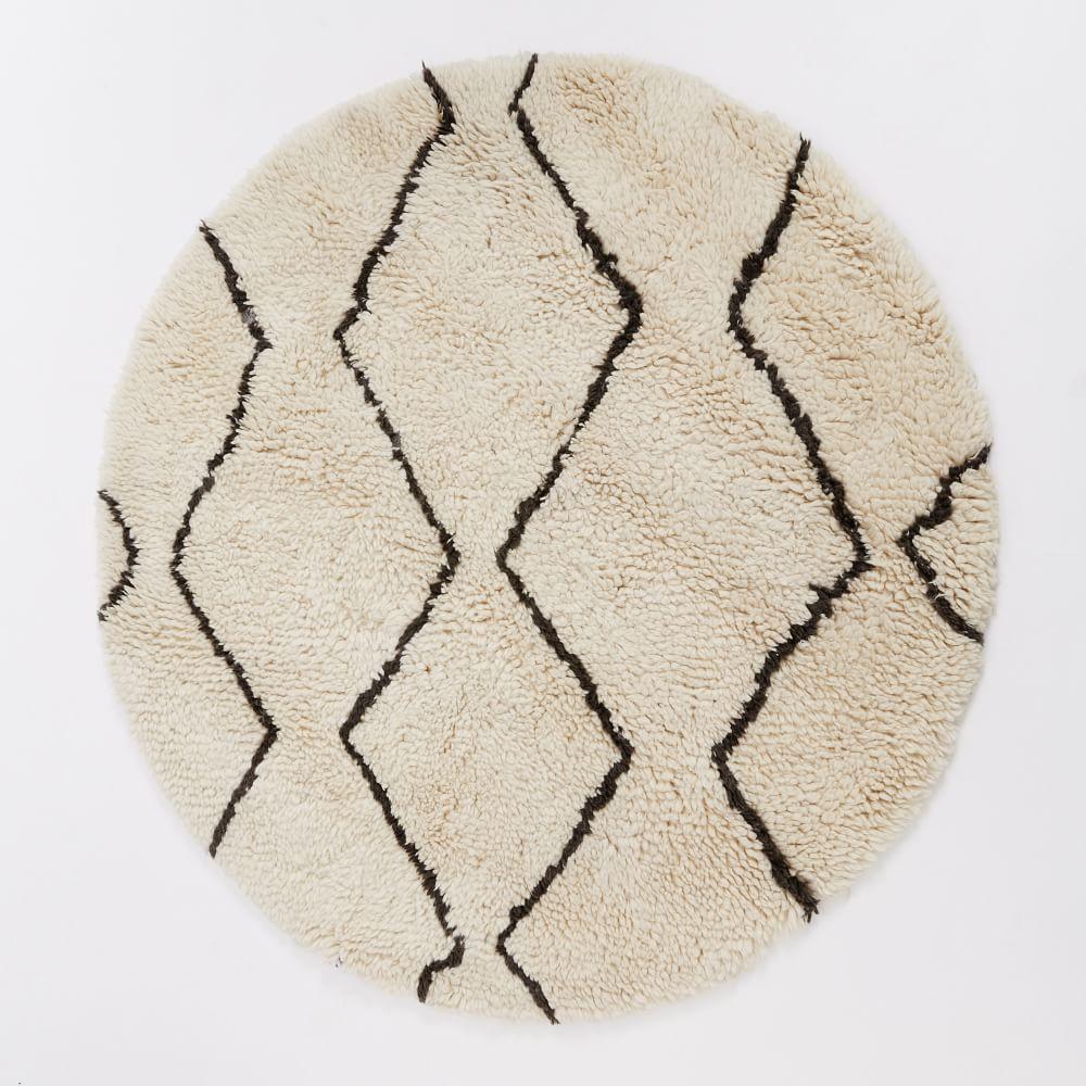 Souk Round Rug - Ivory/Graphite