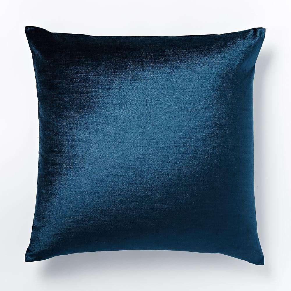 Cotton Lustre Velvet Cushion Cover Regal Blue 51cm