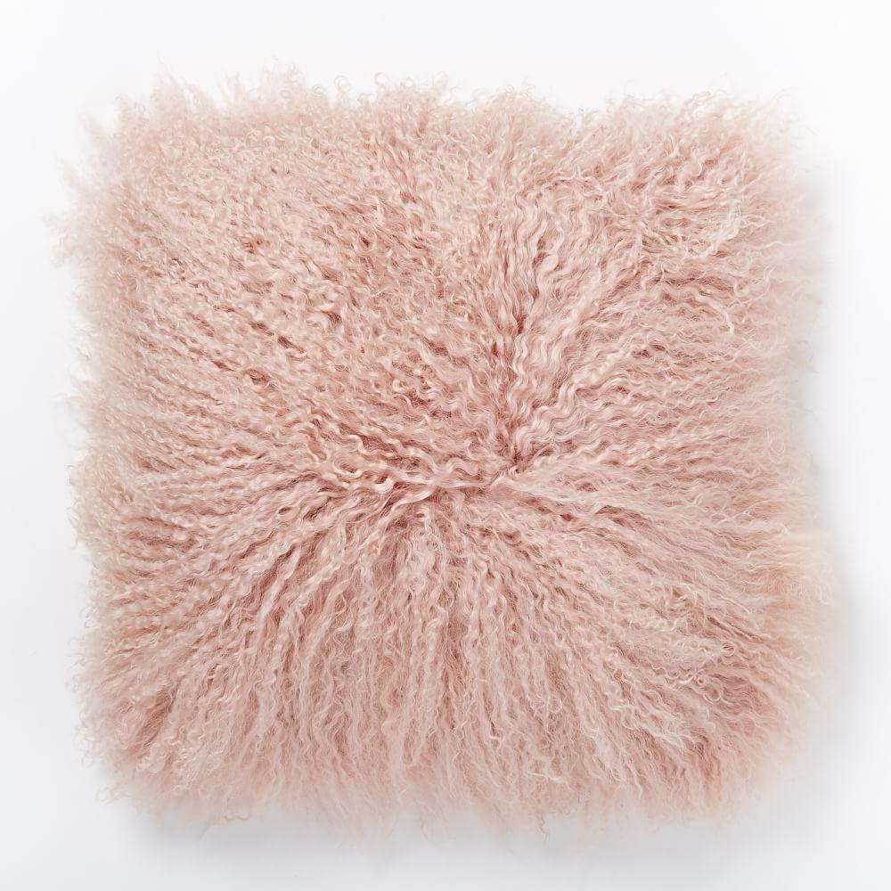 Mongolian Lamb Cushion Cover Rosette 41cm West Elm Au