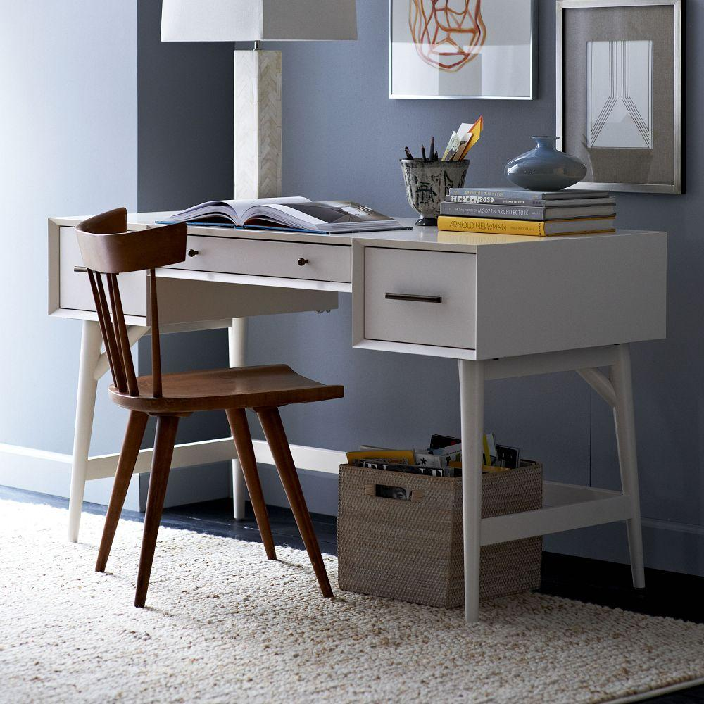 Furniture West Elm: Mid-Century Desk - White