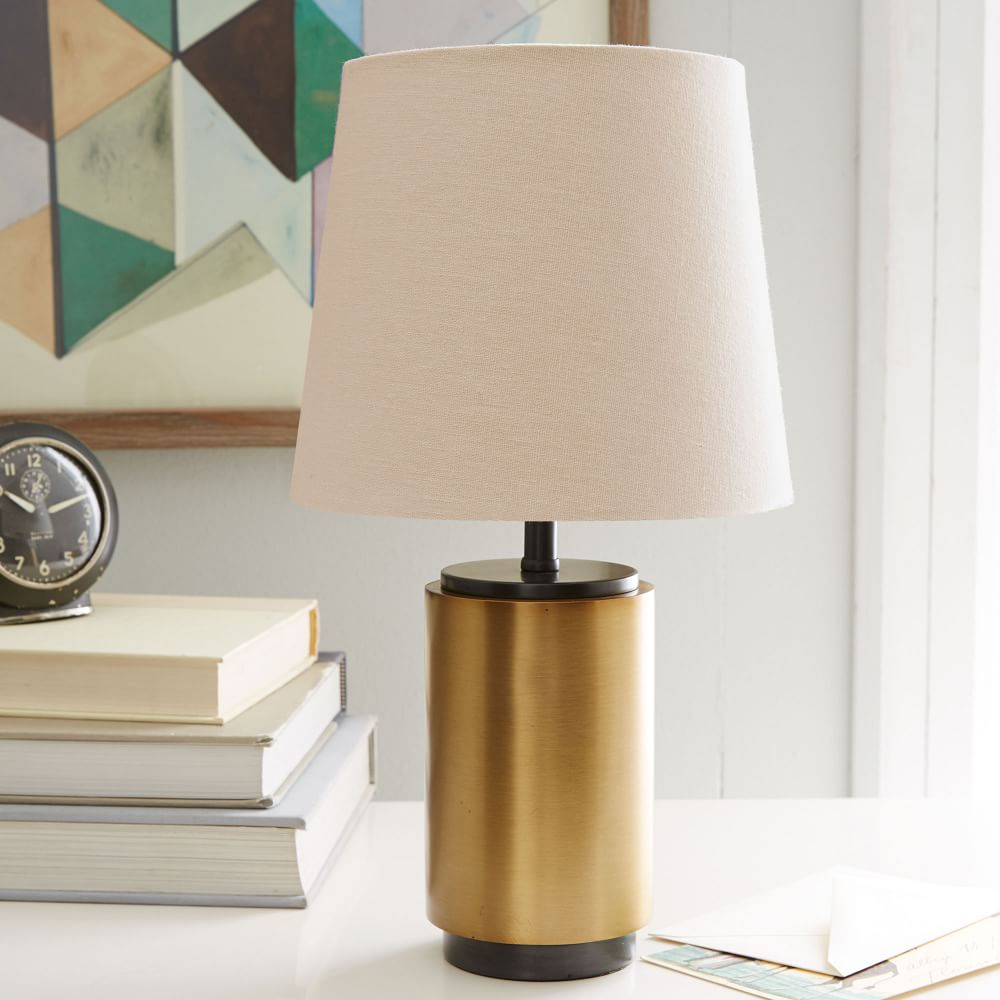 Small Pillar Table Lamp Antique Brass West Elm AU