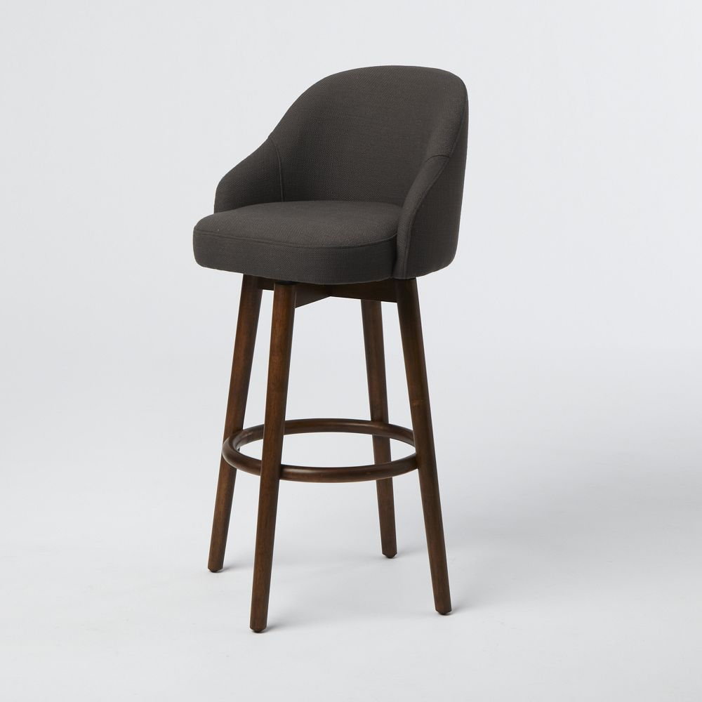 A Shapely Swivel Seat Inspired By Mid Century Design Our: Saddle Bar + Kitchen Stool