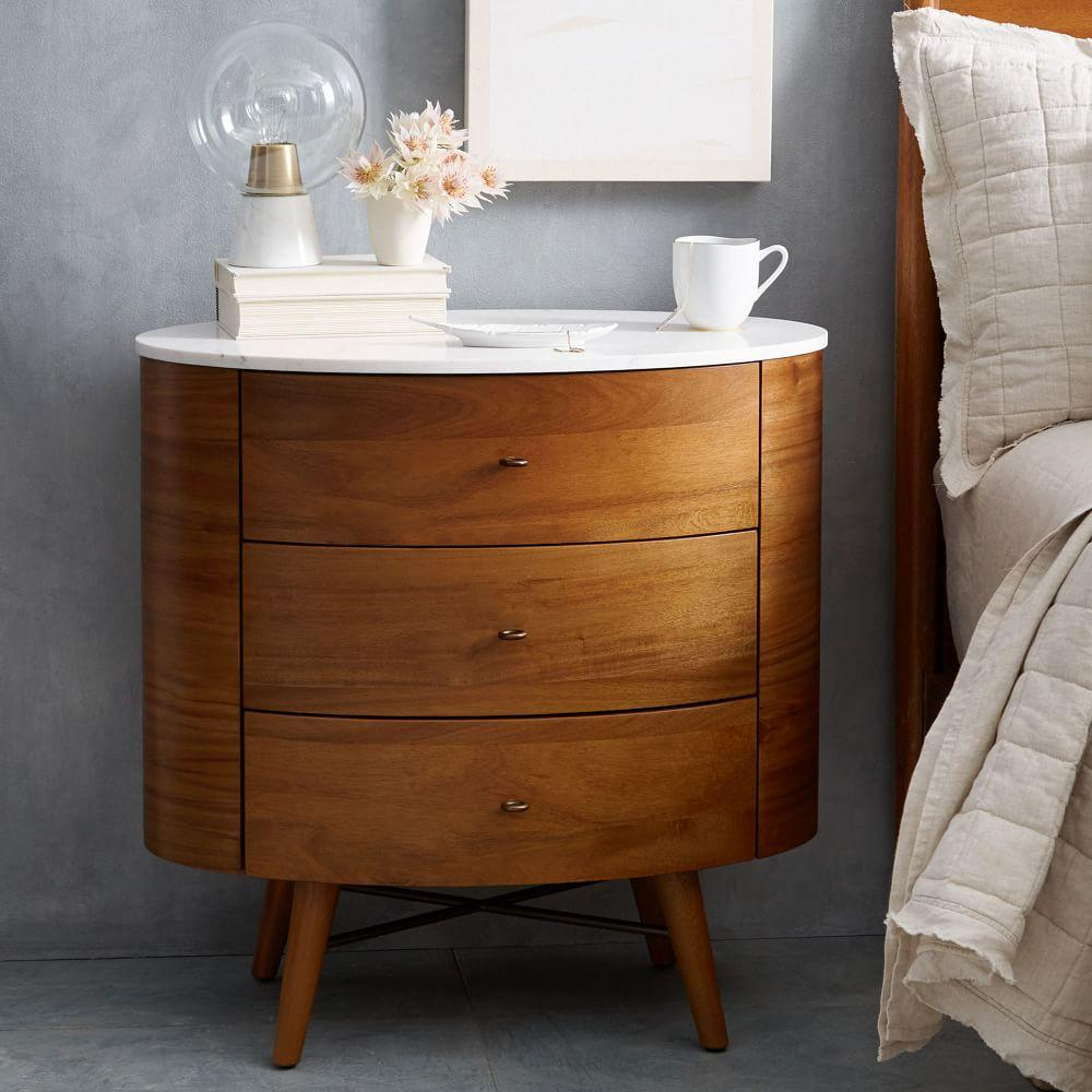 Penelope 3 drawer bedside table west elm au - Bedside table ...