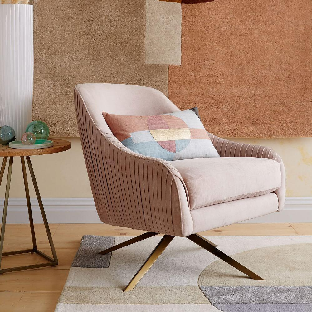 Roar Rabbit Swivel Chair Dusty Blush West Elm Australia