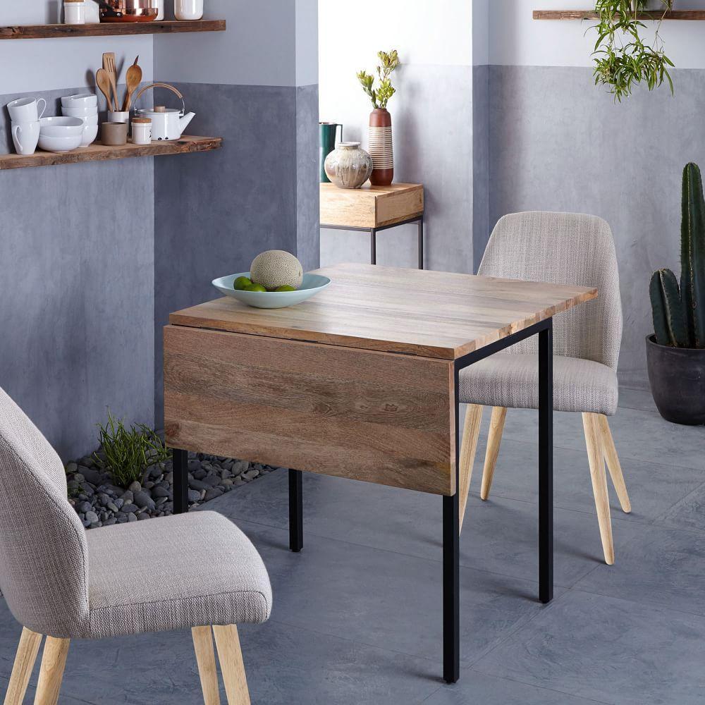 box frame drop leaf expandable table west elm au. Black Bedroom Furniture Sets. Home Design Ideas
