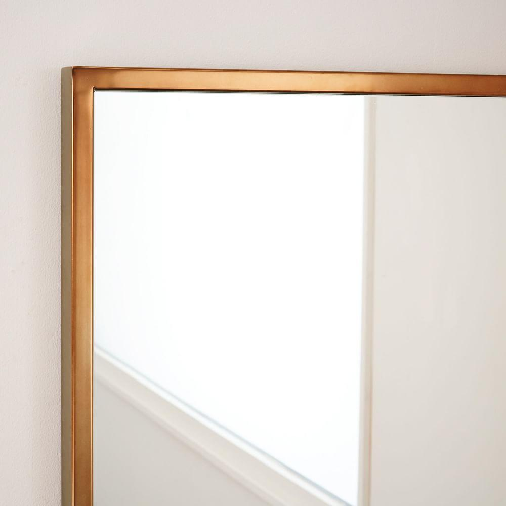 Metal framed wall mirror rose gold for Metal frame mirror
