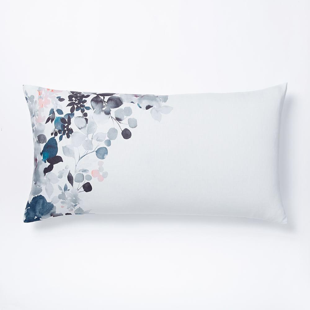 Belgian Flax Linen Watercolour Garden Quilt Cover