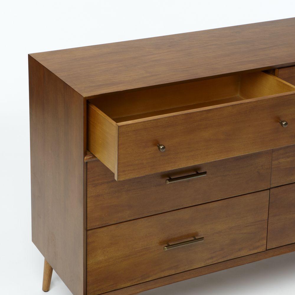Six Drawer Chest ~ Mid century drawer dresser acorn west elm australia