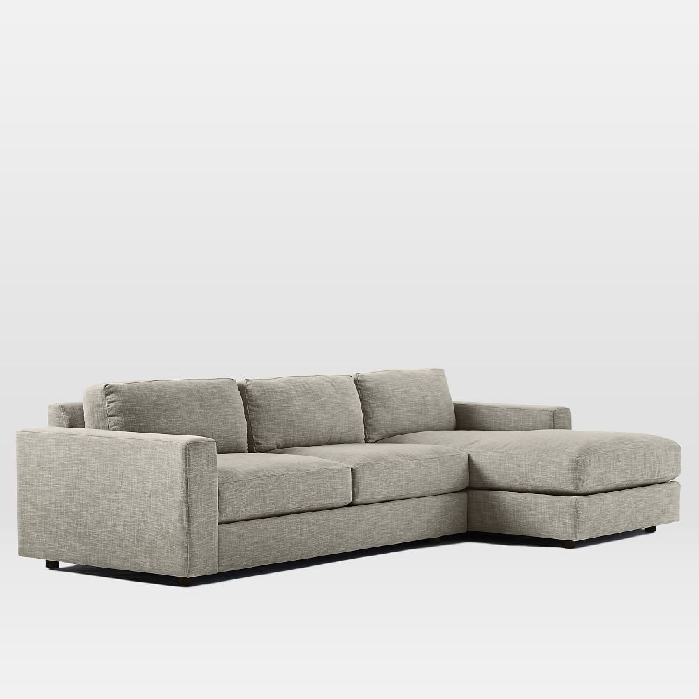 Urban 2 Piece Small Chaise Sectional West Elm AU