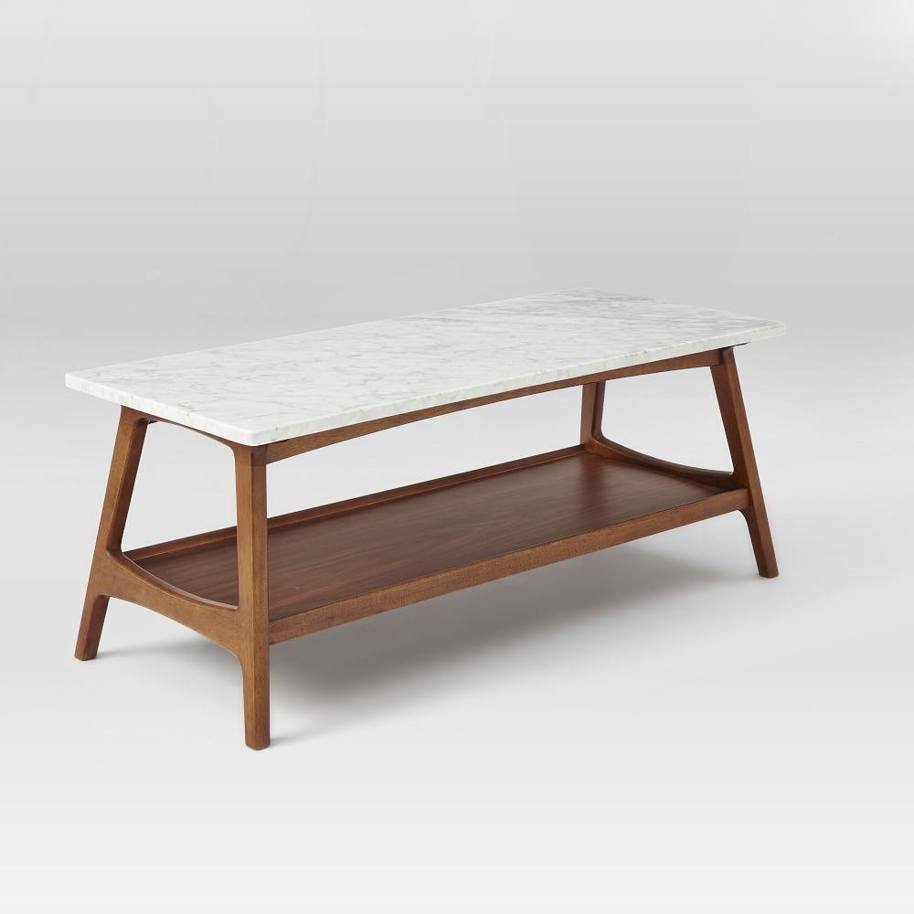 Mid Century Modern Coffee Table With Planter: Reeve Mid-Century Rectangular Coffee Table
